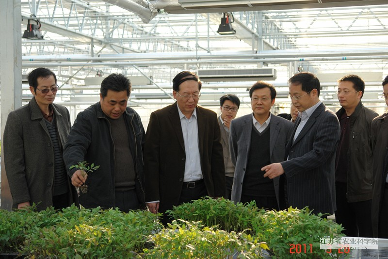 A MOST (Ministry of Science and Technology) delegation visits Lishui Agricultural Experiment Station