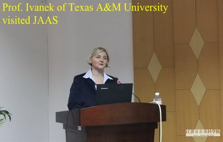 Prof. Ivanek of Texas A&M University visited JAAS