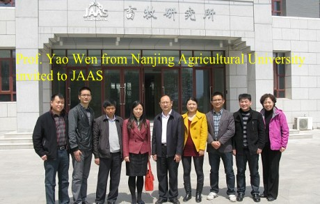 Prof. Yao Wen from Nanjing Agricultural University invited to JAAS