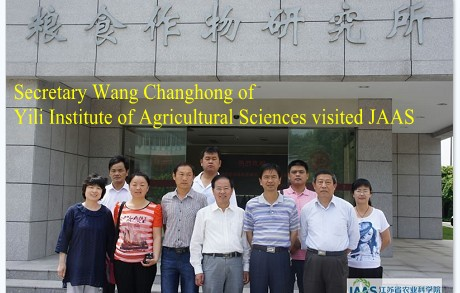 Secretary Wang Changhong of Yili Institute of Agricultural Sciences visited JAAS